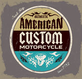 American custom - Chopper Motorcycle badge Royalty Free Stock Image