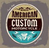 American custom - Chopper Motorcycle badge Royalty Free Stock Image