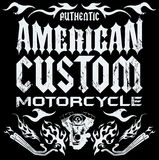 American custom - Chopper Motorcycle elements. Card - lettering Royalty Free Stock Images