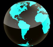 American Dark globe Royalty Free Stock Photos