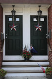 American decorations. Entrance decoration to an American housing Stock Images