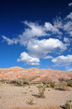 American desert. Semi-desert with clouds and blue sky in national park, California, USA Stock Photo