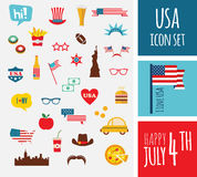 American design elements. Happy independence day of america Royalty Free Stock Images
