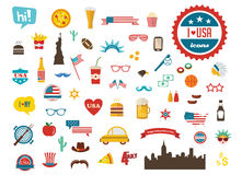 American design elements. happy independence day of America Stock Photos