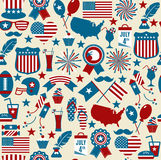 American design seamless pattern. Independence day texture Stock Images