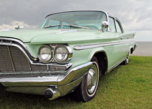 American desoto car. Photo of a wonderful american desoto adventurer car in mint green colour with fabulous aerodynamic lines and a lot a chrome Stock Photography