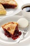 Cherry pie with ice cream Stock Photography