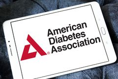American Diabetes Association, ADA, logo. Logo of American Diabetes Association, ADA, on samsung tablet. The American Diabetes Association ADA is a United States Stock Photos