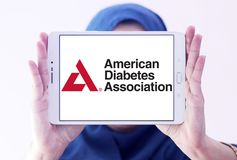 American Diabetes Association, ADA, logo. Logo of American Diabetes Association, ADA, on samsung tablet holded by arab muslim woman. The American Diabetes Royalty Free Stock Photography