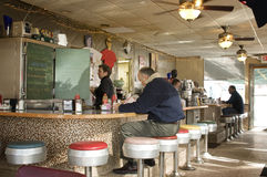 American Diner. A type of inexpensive restaurant that is fast disappearing Stock Photos