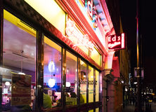 American Diner in London SOHO London UK Royalty Free Stock Photo