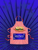 American diner menu. A menu template for an American dinner or Independance day meal Royalty Free Stock Photography