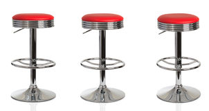 American Diner Red Stools Stock Images