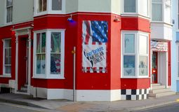 American Diner. An American Diner restaurant  at the seafront in Aberystwyth, Wales, UK Stock Image