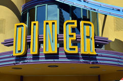 American Diner sign. An art deco American Diner sign Stock Images