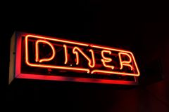 American Diner Sign Royalty Free Stock Photography