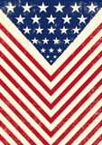 American dirty flag. An american vintage flag with a texture Stock Photography