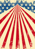 American dirty flag background Royalty Free Stock Image