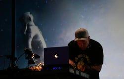 DJ Shadow performing live at Sonar festival in barcelona. American dj and producer DJ Shadow, Joshua Paul `Josh` Davis, performs live at sonar advanced music and Stock Photo