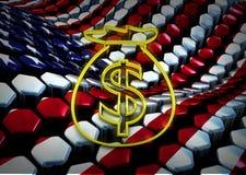 American dolar illustration with usa flag Stock Image