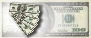 American dollar. US money - 100 US dollar conceptual design Royalty Free Stock Photography