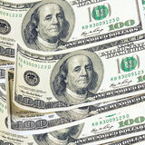 American dollar. American 100 dollar bills background Stock Image