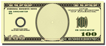 American dollar. As a frame Royalty Free Stock Image