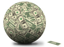 American dollar ball Royalty Free Stock Image