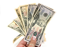 American dollar banknote in the hand.  Royalty Free Stock Photo