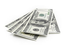 American dollar banknotes Stock Photos
