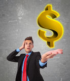 The american dollar is big! Royalty Free Stock Photography
