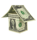 American dollar bill house construction Royalty Free Stock Image