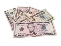 American Dollar Bills Royalty Free Stock Images