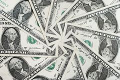 American Dollar Bills  Royalty Free Stock Photos