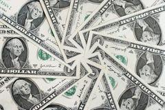 American Dollar Bills. Background of American dollar bills in circular arrangement Royalty Free Stock Photos