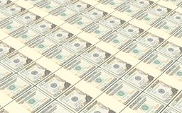 American dollar bills stacks background. Royalty Free Stock Photos