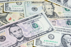American Dollar bills, use for background Stock Images