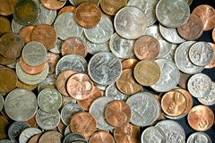 American Dollar Coins Stock Image
