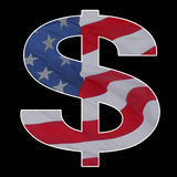 American dollar flag sign Stock Image