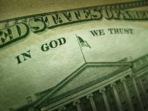 American Dollar In God We Trust Inscription Royalty Free Stock Photos