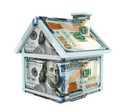 American Dollar House Isolated. Isolated on white background. 3D render Stock Photos