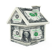 American Dollar House Isolated Stock Images