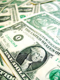 American Dollar macro. View on bills background pattern Royalty Free Stock Images