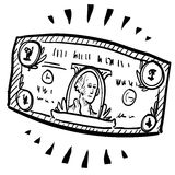 American dollar sketch Royalty Free Stock Photo