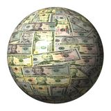 American dollar sphere Royalty Free Stock Photos