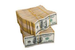 American dollar stack Royalty Free Stock Image