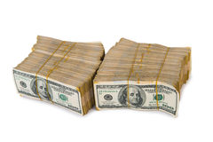American dollar stack Royalty Free Stock Photos
