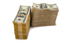 American dollar stack Stock Photo