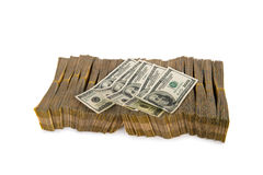 American dollar stack Royalty Free Stock Photography