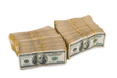 American dollar stack Stock Image